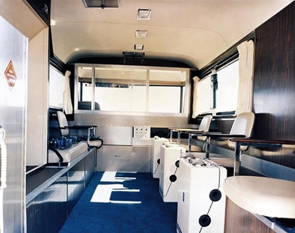 interior Clark Cortez, la autocaravana elegida por la NASA para el Programa Apolo