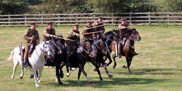 caballos de guerra en batalla