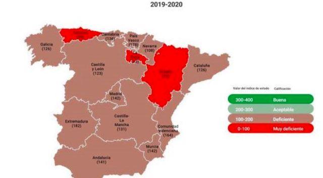 Mapa carreteras españolas