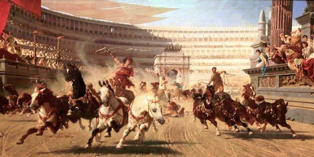 carreras de cuadrigas en la Antigua Roma