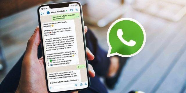 mutua usa IA para atender a clientes por WhatsApp con Eme