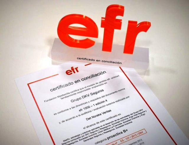 certificado EFR Interior