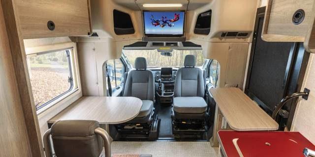 interior Ford Transit Winnebago Ekko 4x4