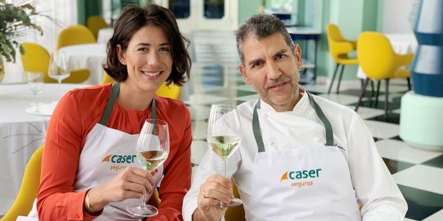 Garbiñe Muguruza, embajadora de Caser, se estrena en la cocina de la mano de Paco Roncero