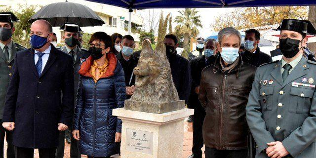 Busto del perro Ajax en Antequera