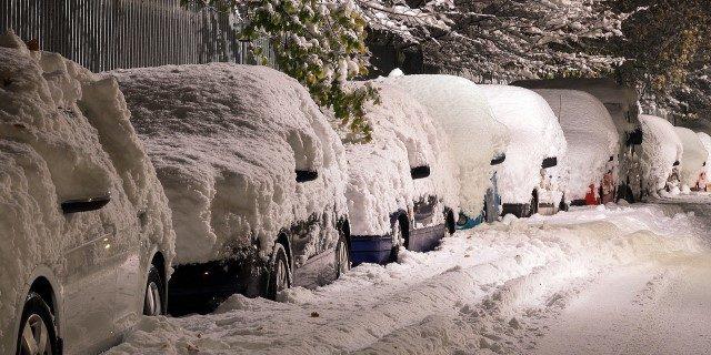 arrancar el coche en frío tras el temporal de nieve de Filomena
