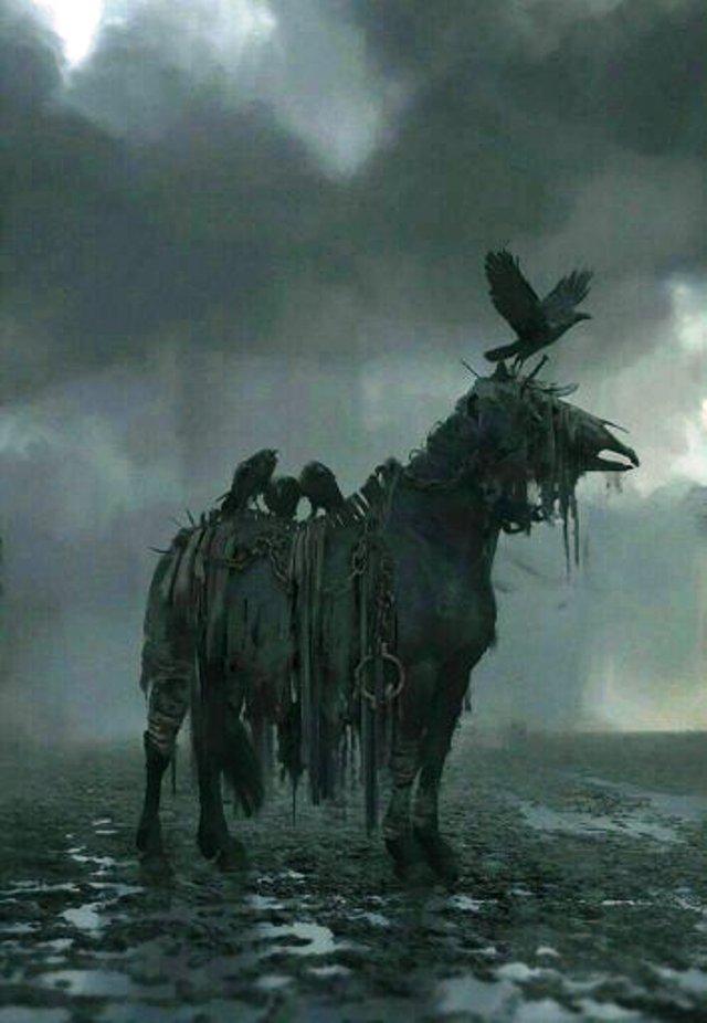 Helhest caballo mitología nórdica