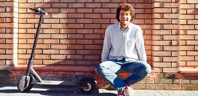 patinete eléctrico puesto a punto